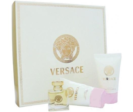 Versace Eau De Parfum EDP MINI 5 ml + SG 25 ml + BL 25 ml W