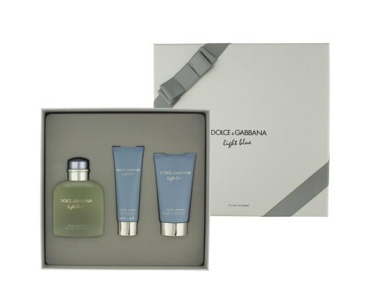 Dolce & Gabbana Light Blue pour Homme EDT 125 ml + ASB 75 ml + SG 50 ml M