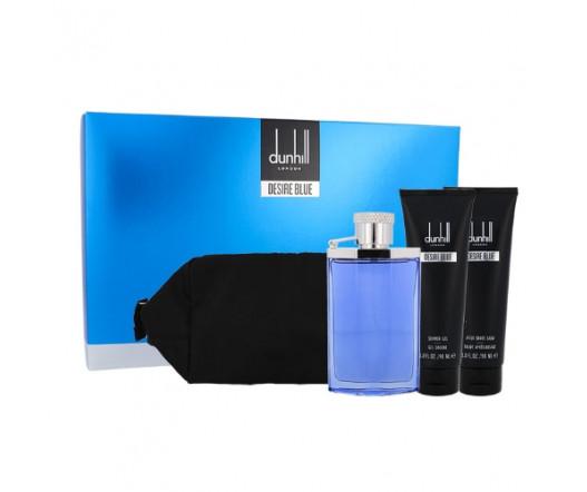Dunhill Alfred Desire Blue EDT 100 ml + ASB 90 ml + SG 90 ml + kosmetická taška M