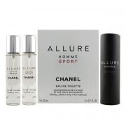 Chanel Allure Homme Sport EDT plnitelný 20 ml + EDT náplň 2 x 20 ml M
