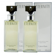 Calvin Klein Eternity for Women EDP 2 x 100 ml + W