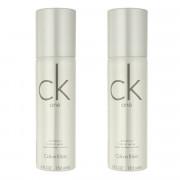 Calvin Klein CK One DEO ve spreji 2 x 150 ml UNISEX