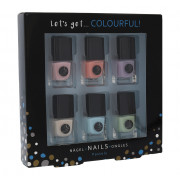 2K Let's Get Colourful! Pastels Nail Polish 6 x 5 ml